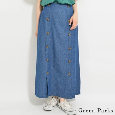 Green Parks 雙排釦牛仔長裙