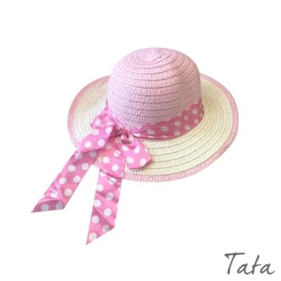 童裝 撞色點點蝴蝶結草帽 共三色 TATA KIDS