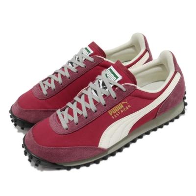 Puma 休閒鞋 Fast Rider SD 男鞋 基本款 麂皮 網布 穿搭推薦 紅 白 37108201