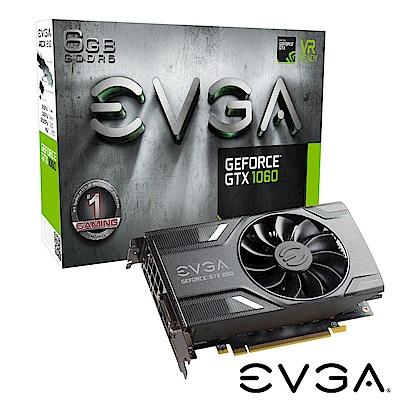 艾維克EVGA GTX1060 6GB GAMING ACX 2.0  PCI-E圖形卡