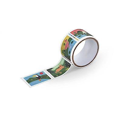 Dailylike 郵票造型紙膠帶(單捲)-16 叢林