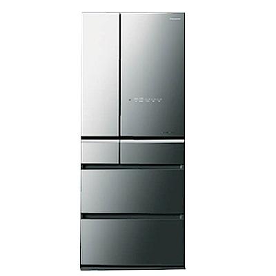 PANASONIC 國際牌600L六門變頻玻璃冰箱 NR-F603HX/X1(鑽石黑)