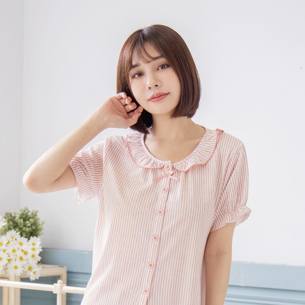 RoseMony羅絲夢妮 - 戀上甜蜜全開釦短袖褲裝睡衣(甜甜粉) (甜甜粉)