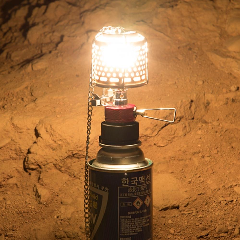 【索樂生活】步林金屬罩露營汽化照明燈附轉接頭燈紗蕊.野外自動電子點火高山卡式瓦斯吊掛燈具