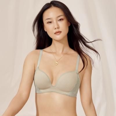 黛安芬-輕塑美型系列 3D空氣棉魔術無鋼圈 B-C罩杯內衣 霧綠色