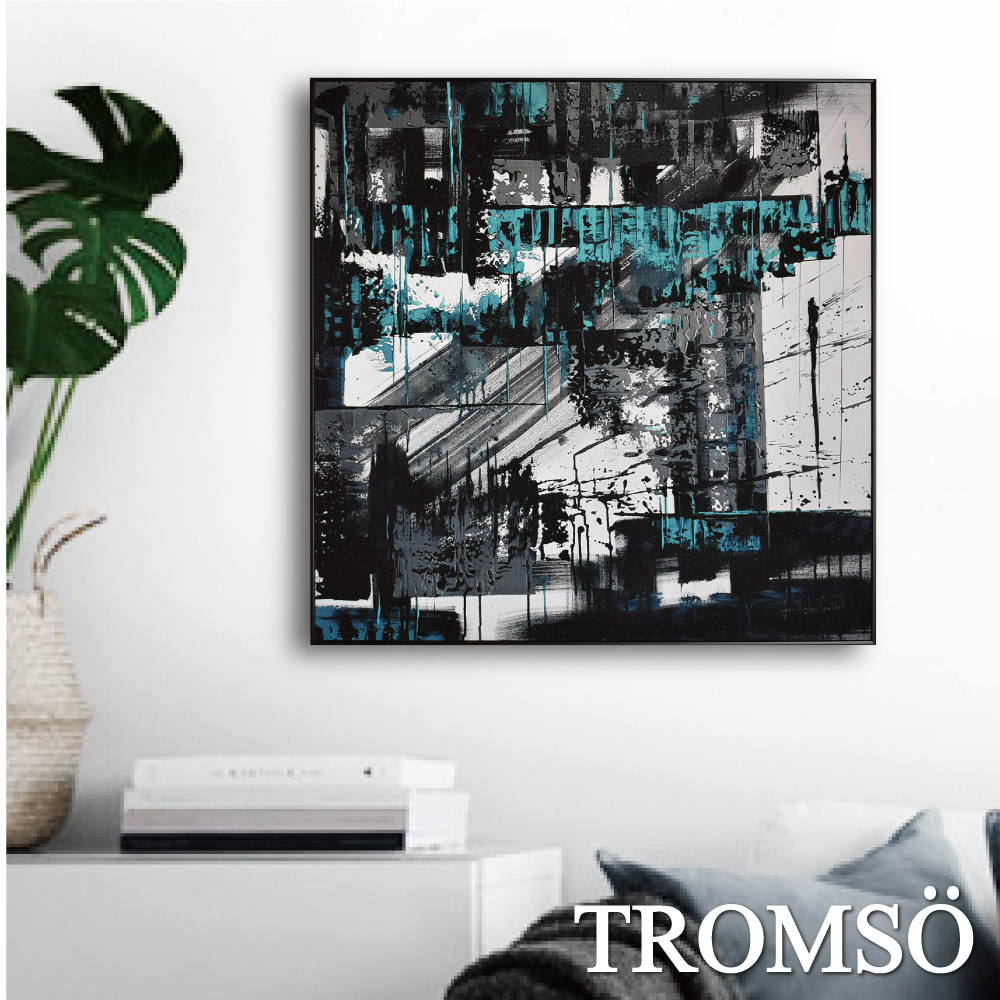 TROMSO 北歐生活版畫有框畫-時代格調B WA81