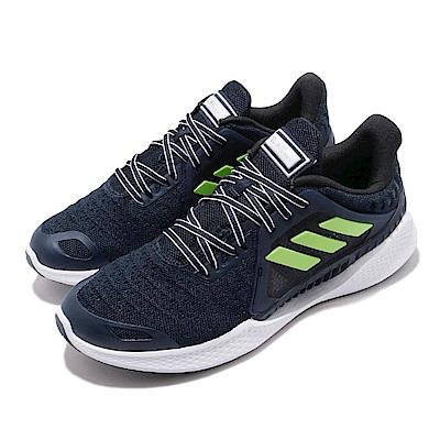 adidas 慢跑鞋 ClimaCool Vent 運動 男鞋 愛迪達 三線 路跑 涼感 透氣 輕量 藍 白 綠 FW3012