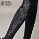 蒂巴蕾 SWEET 超細纖維天鵝絨全彈性褲襪120D-甜美花朵 黑色 product thumbnail 1