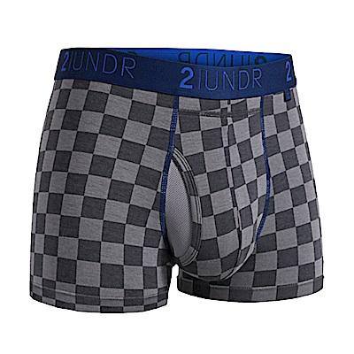2UNDR Swing Shift 莫代爾吸排內褲(3吋)-灰格紋