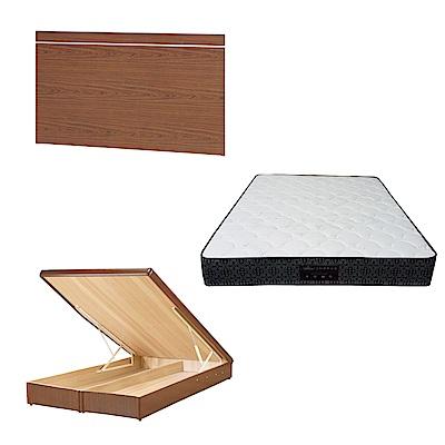 綠活居 梅娜6尺雙人加大床台三式組合(床頭片 後掀床底 防蹣抗菌獨立筒)五色可選