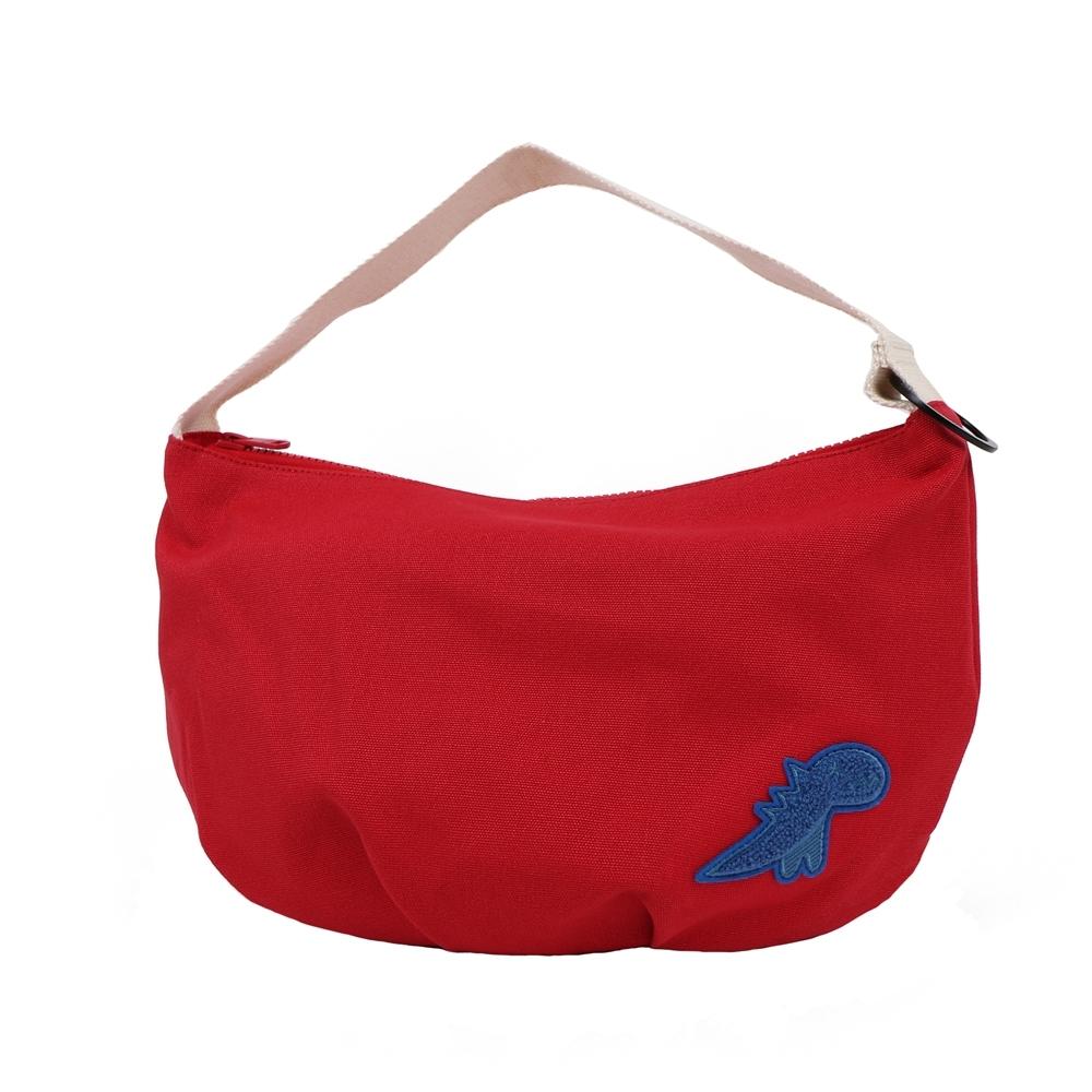 Agnes b. - Sport b. 恐龍圖案可肩背彎月氣球包(女)(紅)