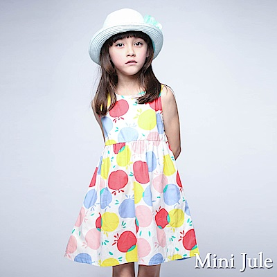 Mini Jule 洋裝 繽紛蘋果緞帶蝴蝶結綁帶無袖洋裝(彩色)