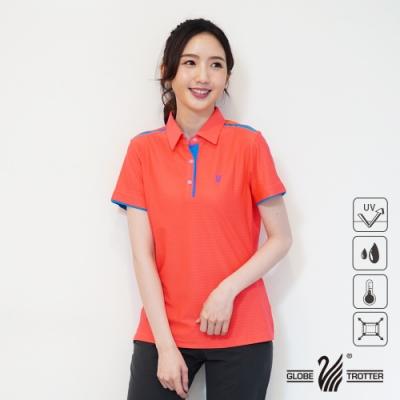 【遊遍天下】女款吸濕排汗抗UV機能POLO衫GS1033桔藍