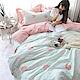 BUNNY LIFE 天鵝湖-單人-文青風純棉床包被套組 product thumbnail 1