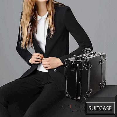 MOIERG-愛上復古潮旅行plain suitcase (M-14吋) Black