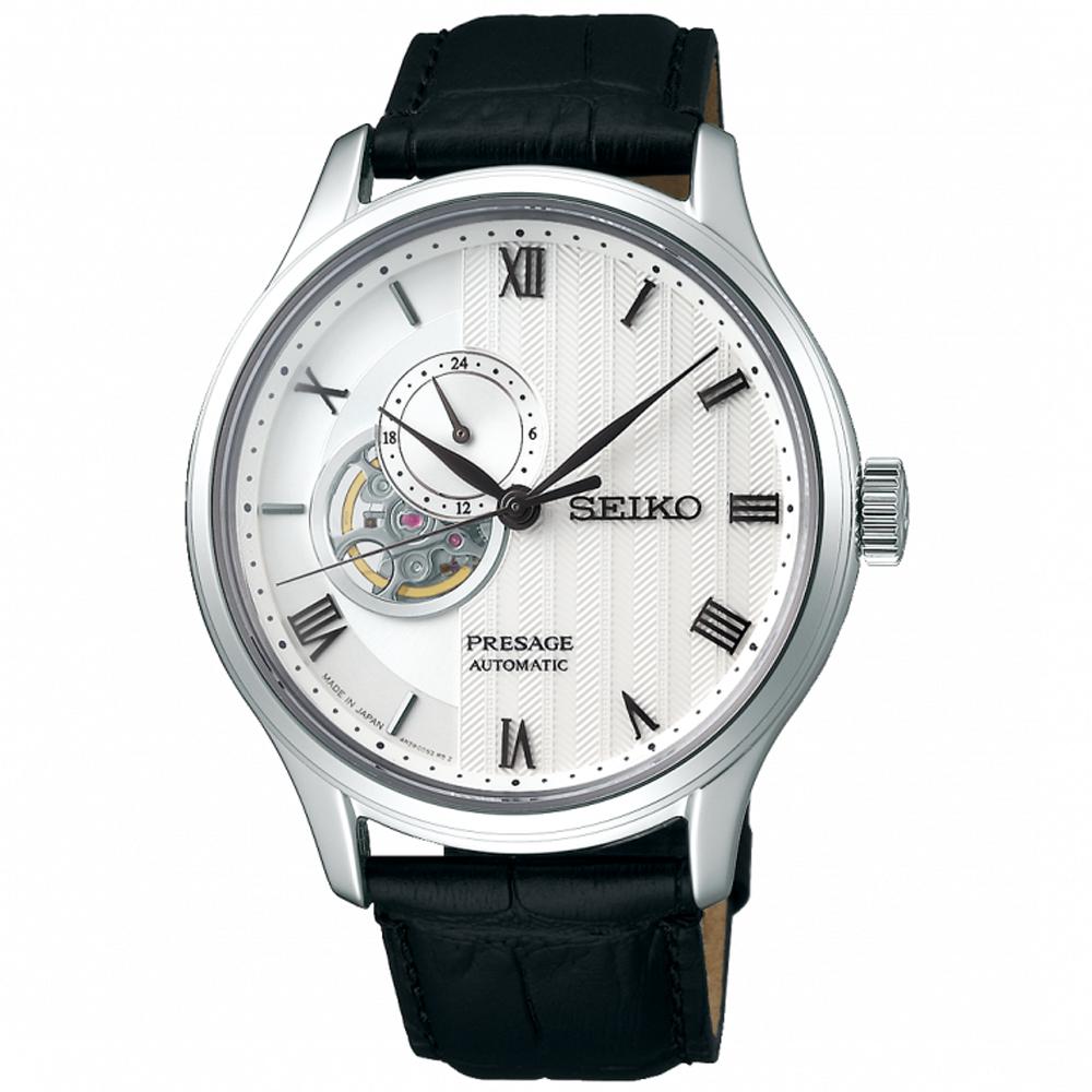 SEIKO精工 Presage絕對風範時尚開芯機械男錶(SSA379J1)-41.8mm