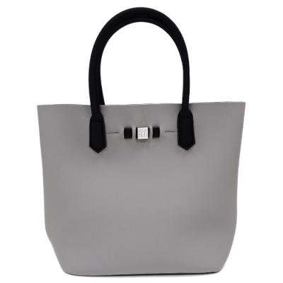 SAVE MY BAG 義大利品牌 POPSTAR系列 灰裸色超輕量手提水桶包