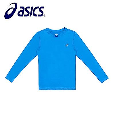 Asics 亞瑟士 男女圓領緊身衣 藍 K31711-43