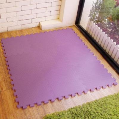 【新生活家】EVA運動安全地墊 62x62x1.3cm-紫色(12片入)