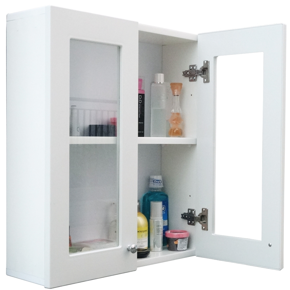經典雙門防水塑鋼浴櫃/置物櫃-白色1入