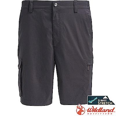 Wildland 荒野 0A71392-93深灰色 男彈性透氣抗UV短褲
