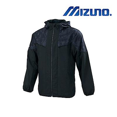 MIZUNO 美津濃 男平織運動外套 黑x黑紋 32TC908799