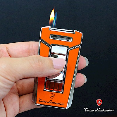 藍寶堅尼Tonino Lamborghini AERO LIGHTER 打火機(橘)