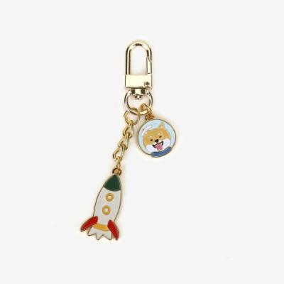 Dailylike 日日美好鑰匙圈-05柴犬遊太空