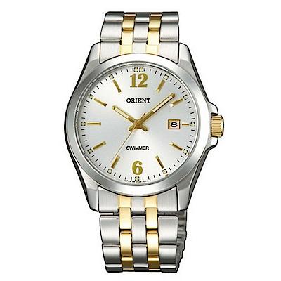 ORIENT東方錶 簡單生活金緻時標石英腕錶(SUND6002W0)-銀白面x36mm