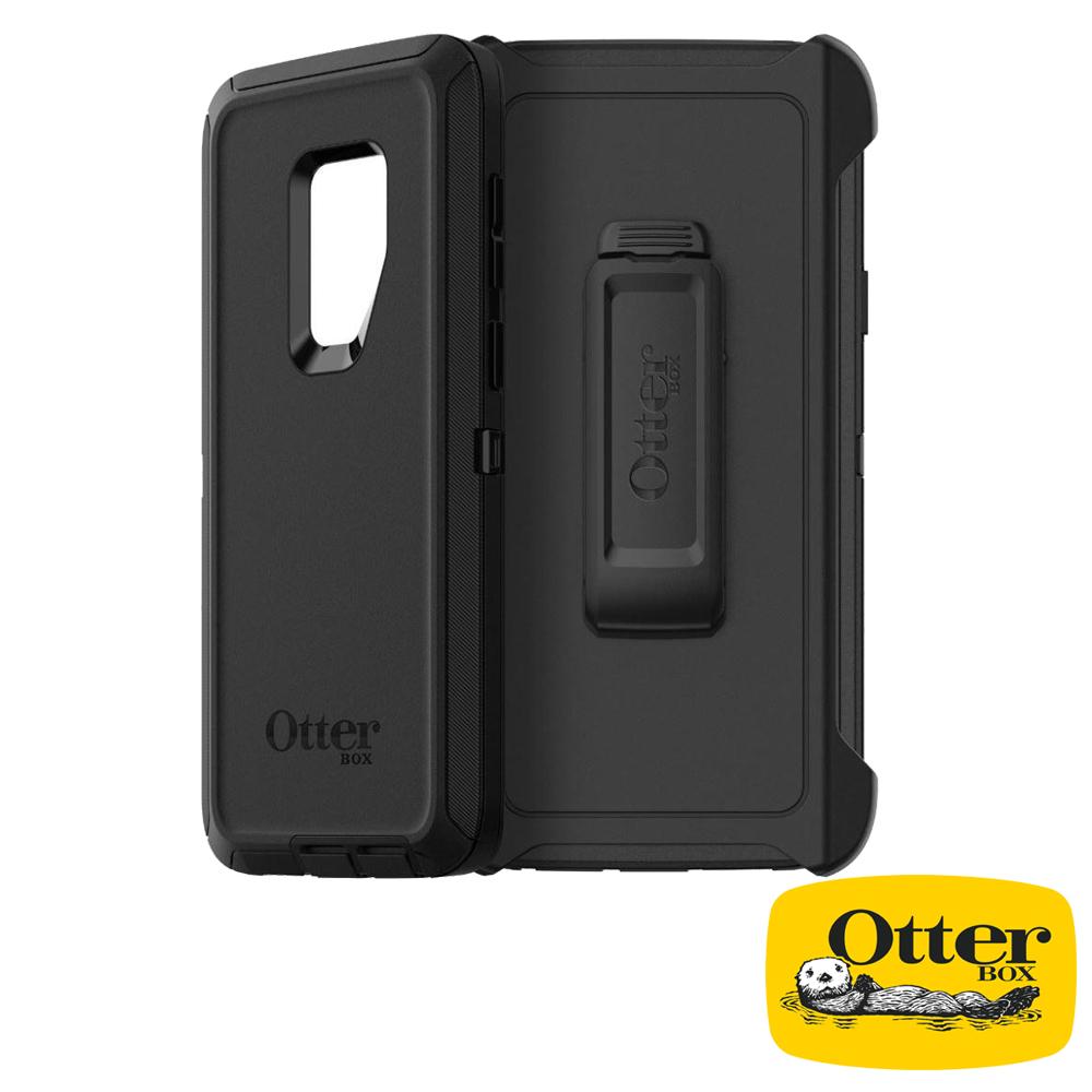 OtterBox Galaxy S9+防禦者系列保護殼-純黑