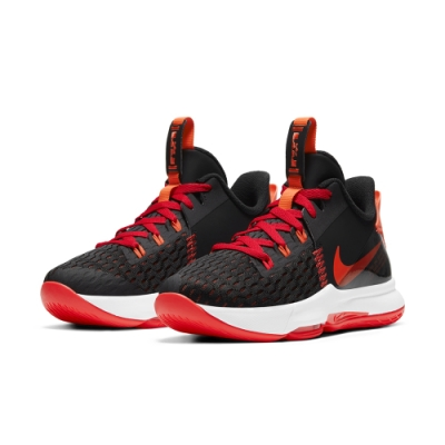 NIKE 籃球鞋 包覆 緩震  運動鞋 男鞋 黑紅 CQ9381-005 LEBRON WITNESS V EP