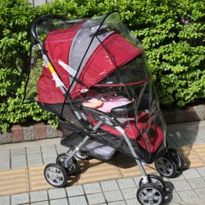 嬰兒手推車透明防塵防雨罩.通用型包覆全罩式防風保暖寶寶推車防雨罩推車雨披