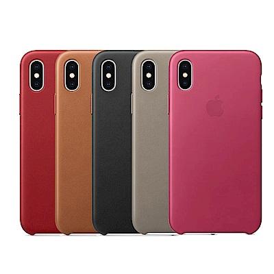 Apple 原廠 iPhone X Leather Case 皮革保護殼 (台灣公司貨)
