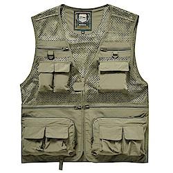 PUSH!戶外休閒用品多功能16口袋背心夾克戶外攝影釣魚馬甲背心F26