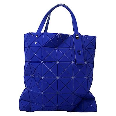 ISSEY MIYAKE 三宅一生BAOBAO 6X6霧面幾何手提托特包(靛藍)