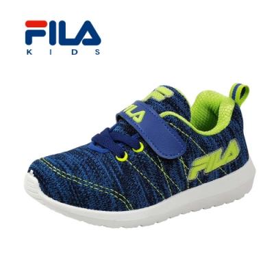 FILA 摩登慢跑鞋 藍綠 中童(4~6歲) 2-J829T-399