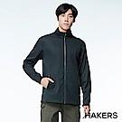 【HAKERS 哈克士】男款 休閒防潑軟殼外套(黑色)