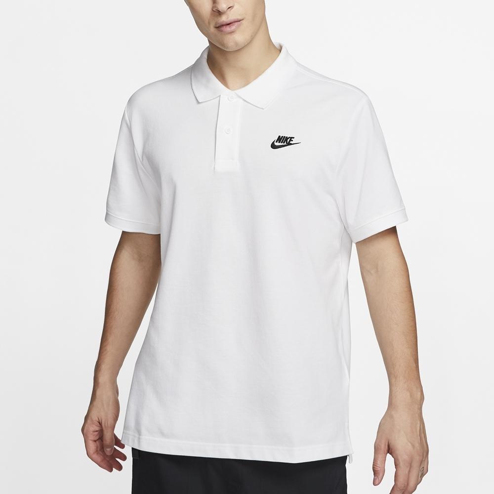 NIKE  休閒 運動 短袖上衣 POLO衫  男款  白  CJ4457100  SPORTSWEAR