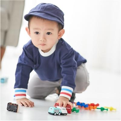 Baby童衣 兒童套裝 簡約螺紋素面居家服 12012