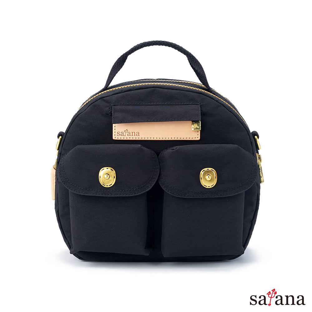 satana - Soldier Mini 輕旅行後背包/保齡球包 - 黑色