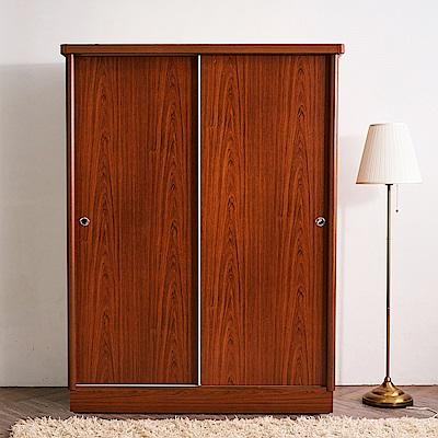 時尚屋 艾德拉4x7尺雙拉衣櫃 寬121.5x深60x高194.5cm