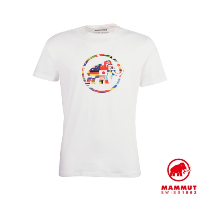 【Mammut 長毛象】Nations T-Shirt Men 世界LOGO短袖上衣 男款 白色 #1017-02220