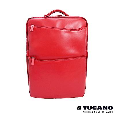 TUCANO Fina Premium義大利真皮後背包-紅