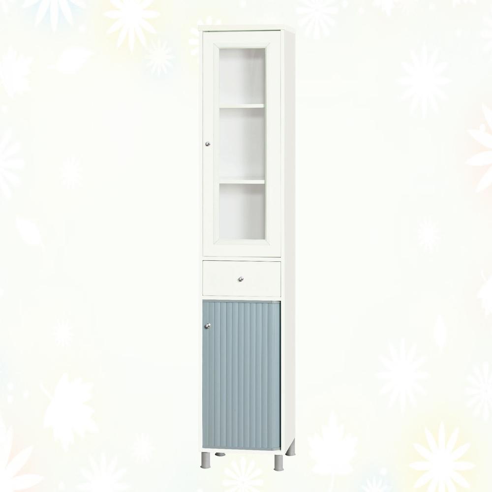 文創集 雷蒙 環保1.1尺南亞塑鋼單門單抽捲門高鞋櫃-32.3x36.5x188.5cm免組