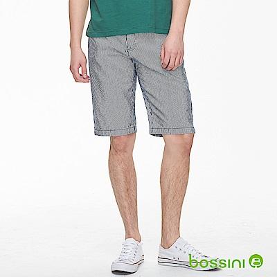 bossini男裝-條紋牛仔短褲01牛仔藍