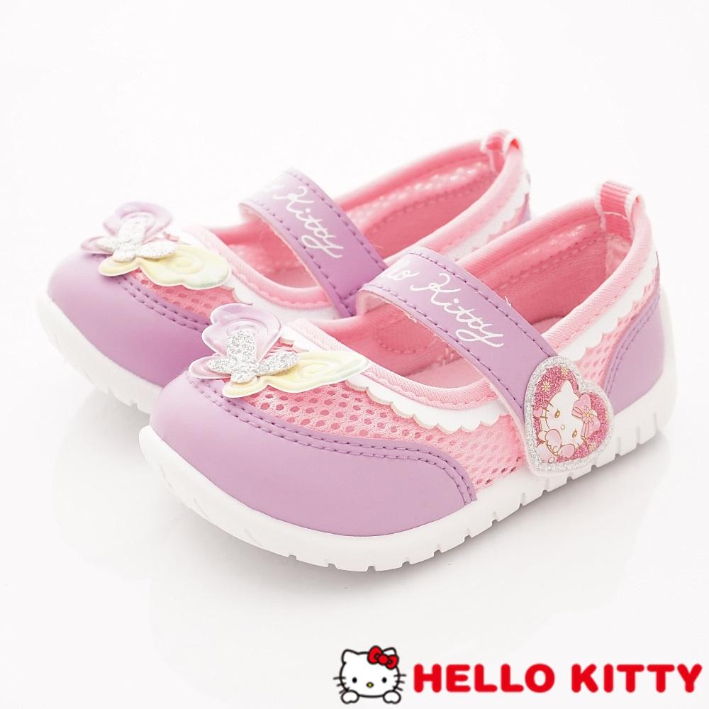 HelloKitty童鞋 繽紛透氣娃娃鞋款 SE19804紫粉(小童段)