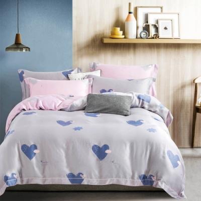Saint Rose頂級精緻100%天絲床罩八件組(包覆高度35CM)-吉米-灰 加大