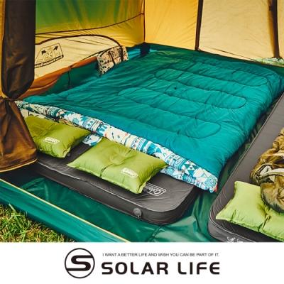 Coleman CM露營者雙人自動充氣氣墊床 CM-36154.自動充氣睡墊 雙人充氣墊 露營充氣床墊 防潮帳篷睡墊 加厚10cm