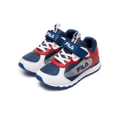 FILA KIDS 大童MD輕量慢跑鞋-藍 3-J409V-123
