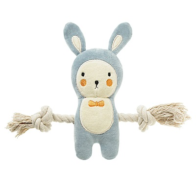 SimplyFido 傑克小藍兔 拉繩 啾啾玩具